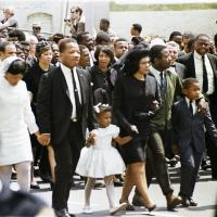 Photograph of Martin Luther King's Family at His Funeral