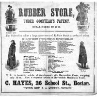 An advertisement for rubber products