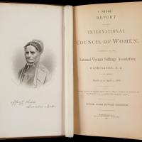 Title Page of International Council of Women Report, 1888