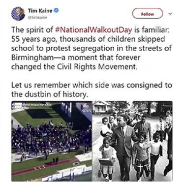 Senator Tweets Support for #NationalWalkoutDay, 2018 Teaser
