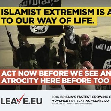 LEAVE.EU Ad Plays on Terrorism Fears, 2016