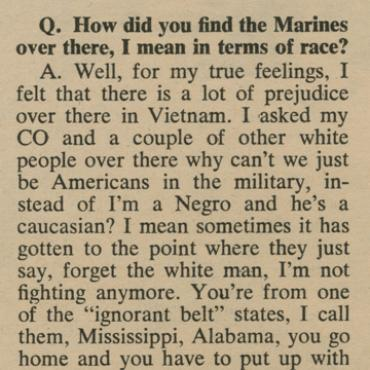 <em>Vietnam GI</em> Reveals Marine's Frustration, 1968 (2 of 2)