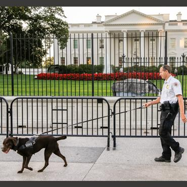 Secret Service put up a second barrier in front of the White House after a serious of incidents in which people jumped the fence.