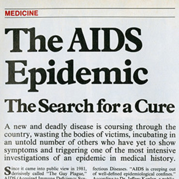 Magazine Profiles 'New and Deadly Disease,' 1983 teaser