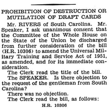 Congressman Defends Draft Card Bill, 1965 (1 of 2) teaser
