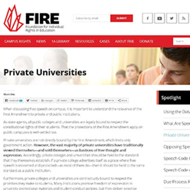Group Advocates Free Speech on Private Campuses teaser