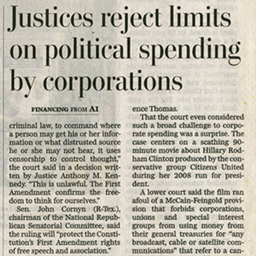 Analysis Examines Scope of Citizens United, 2010 teaser