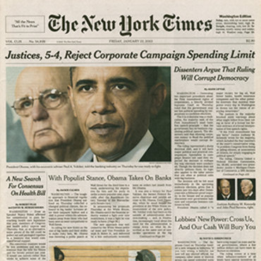 "N.Y. 'Times"" Covers Citizens United Ruling (1 of 3) teaser"
