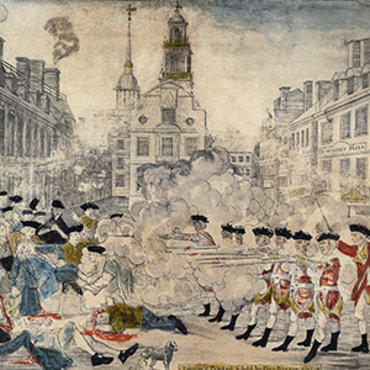 Engraving Depicts the 1770 Boston Massacre