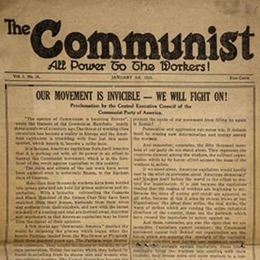 The Communist Party of America's official newspaper responds to a U.S. government crackdown by asserting that its movement is too energized and widespread among workers to be intimidated by multiple arrests.