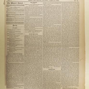 Newspaper Coverage of American Woman Suffrage Association, 1870
