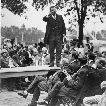 Theodore Roosevelt Campaigns in 1912 Presidential Election