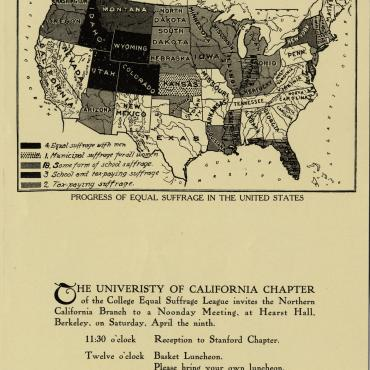 Invitation to Meeting of the College Equal Suffrage League