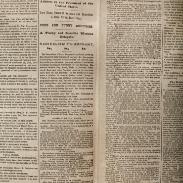 Newspaper Coverage of the Women's Loyal National League, 1863