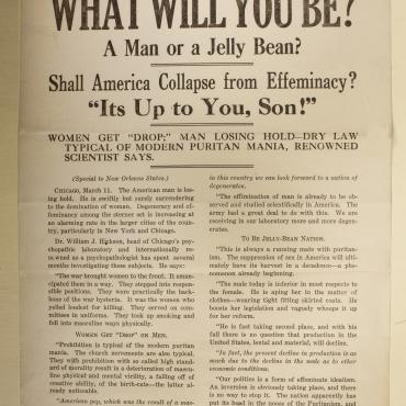 Anti-Suffrage Flier, Circa 1918