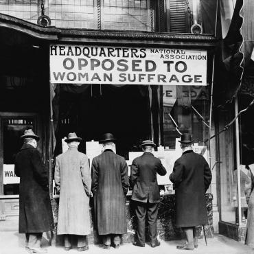 woman suffrage National Association Opposed to Woman Suffrage Headquarters, Circa 1911 center
