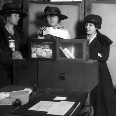 Suffragists Vote in New York City