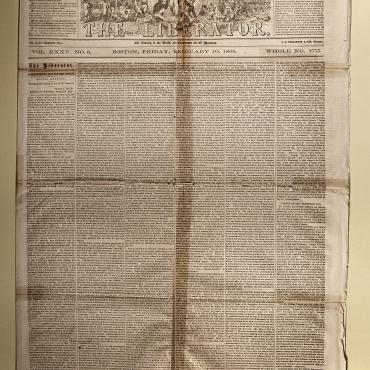 Speeches on Reconstruction in 'The Liberator,' Feb. 10, 1865