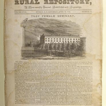 Newspaper Coverage of Troy Female Seminary, 1842