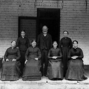 Photograph of Mormon Family, Circa 1885