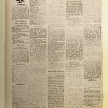 Newspaper Coverage of the Women's Suffrage Act in Washington, Nov. 24, 1883