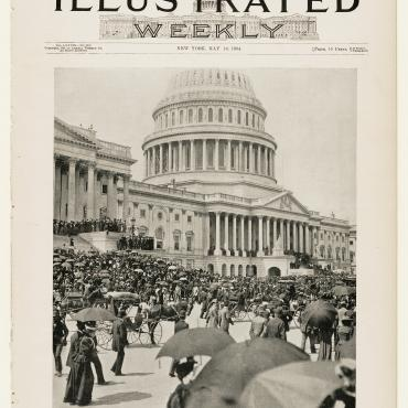 'Frank Leslie's Illustrated Weekly' Featuring Jacob Coxey at the Capitol