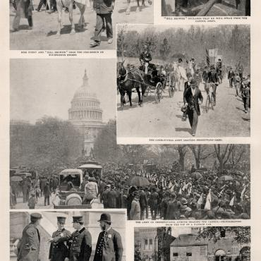 Photographs of Coxey's Army at the Capitol