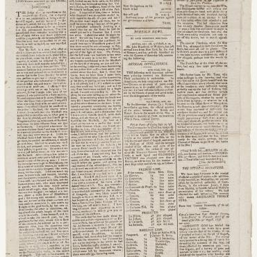 Rep. Matthew Lyon's Account of His Trial