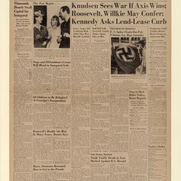 News Coverage of the Lend-Lease Bill, Jan. 19, 1941