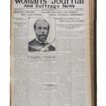 Suffragists Work to Win Wilson's Support