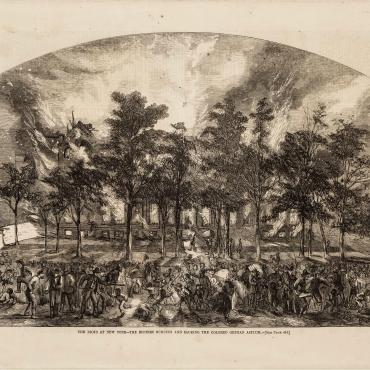 Illustration of the New York City Draft Riots