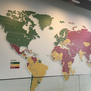 world press freedom map