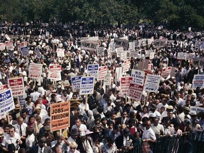 Photograph of 1963 March on Washington